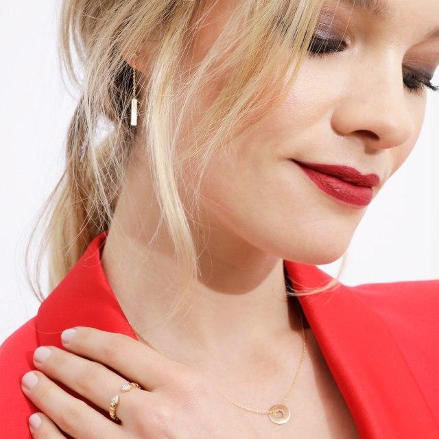 lucky one bijoux boucles oreilles pendantes or jaune hype