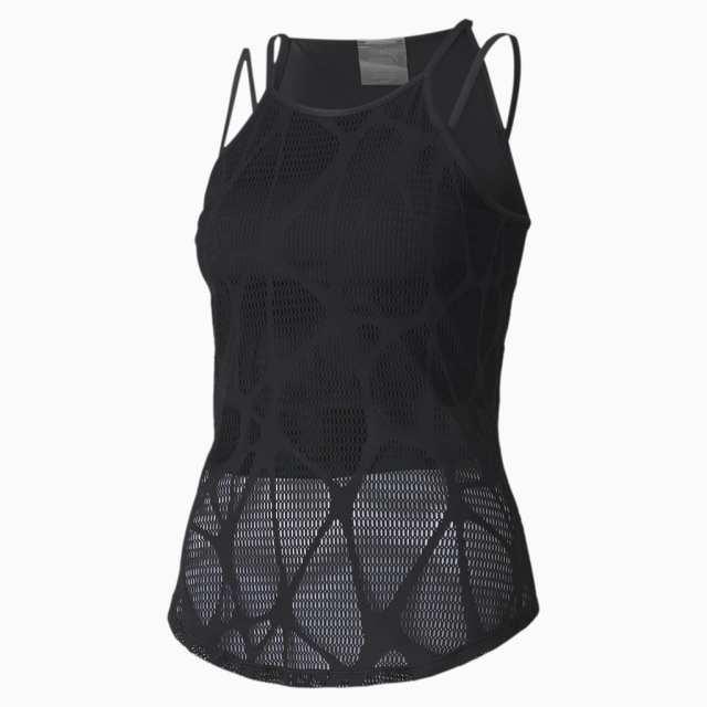 top studio strappy lace training tank pour femme