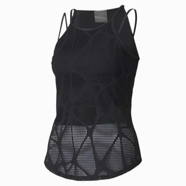top studio strappy lace training tank pour femme