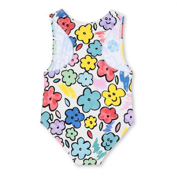 maillot de bain anti uv nylon recycle fleurs